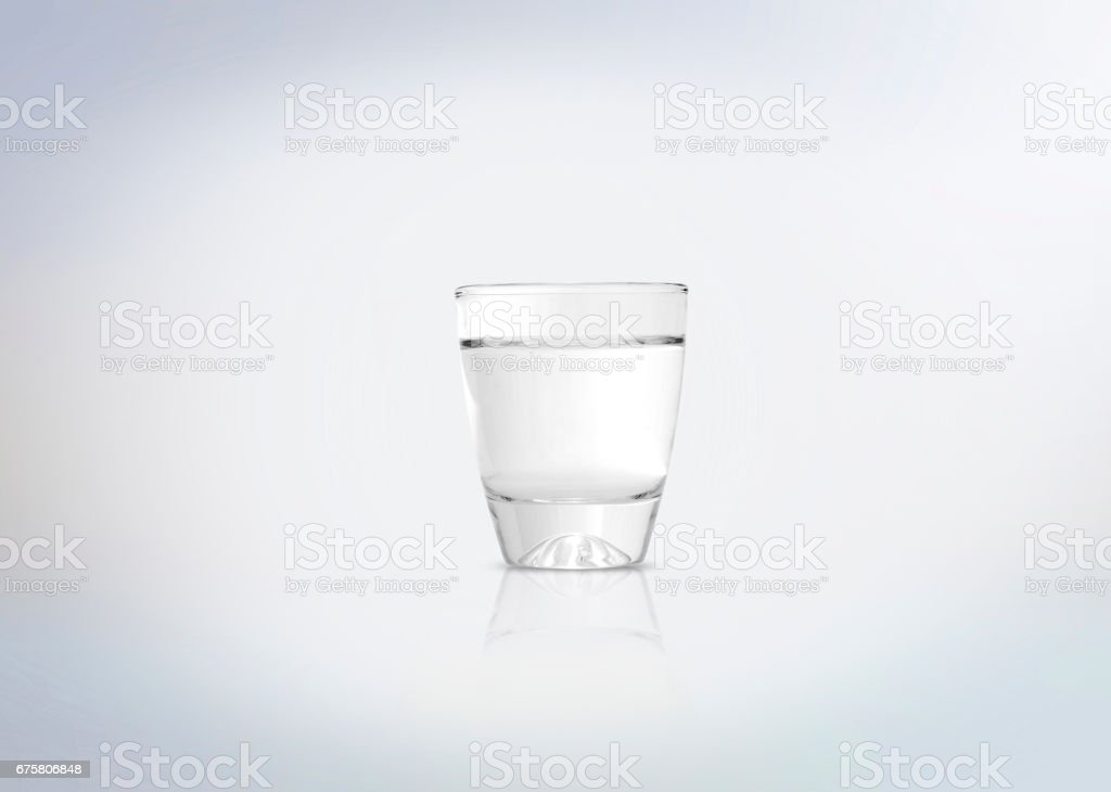 Silver shot of vodka stock photo