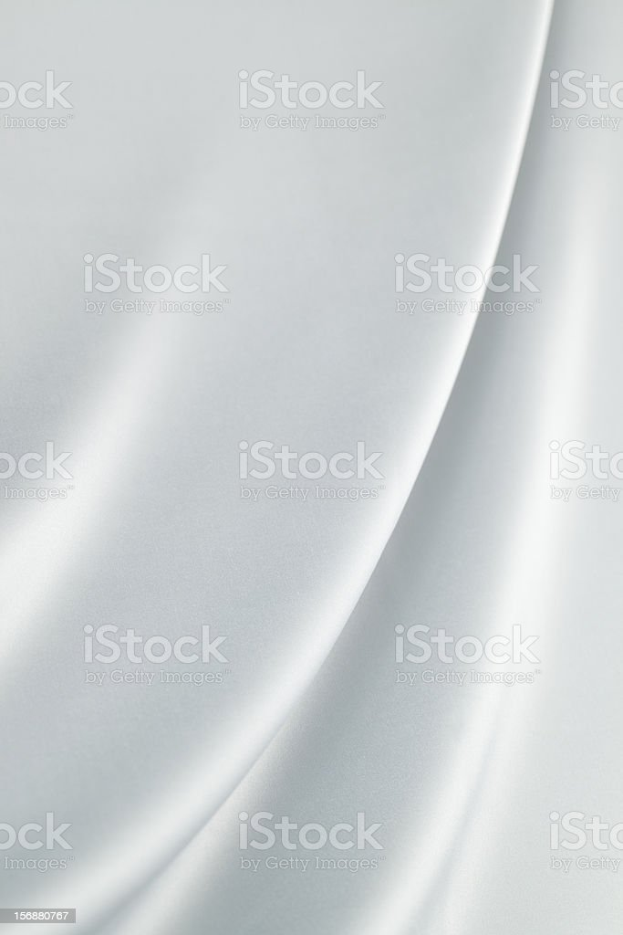 Silver  silk royalty-free stock photo