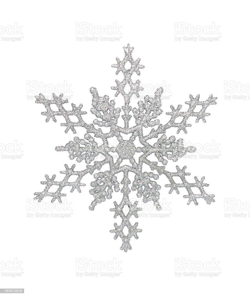 Silver Snowflake royalty-free stock photo