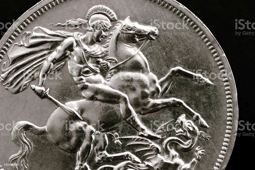 Silver Sovereign royalty-free stock photo