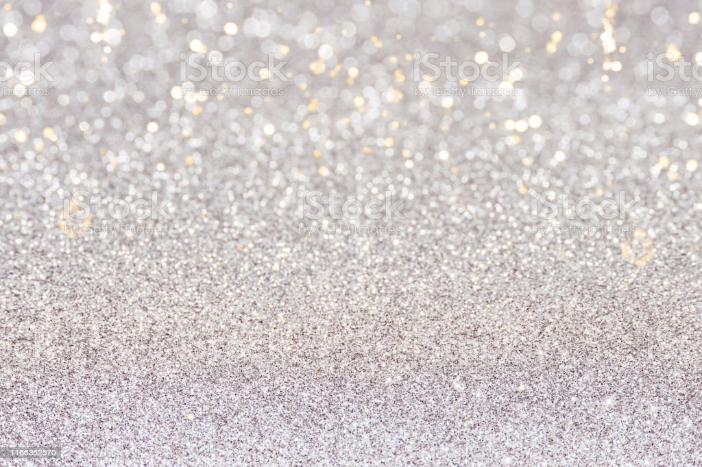 Silver Sparkle Wallpaper For Christmas Card Stock Photo
