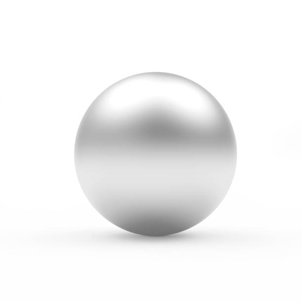silver sphere or ball - ball stock photos and pictures