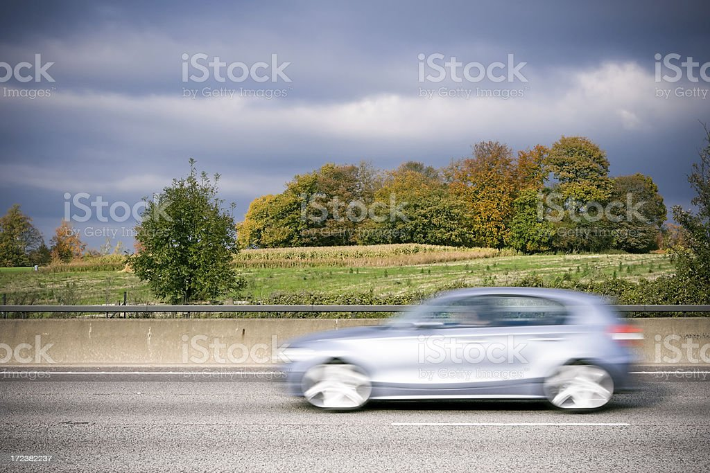 Silver sports car royalty-free stock photo