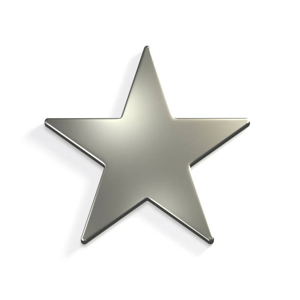 silver star icon. 3d render illustration - celebrities stock pictures, royalty-free photos & images