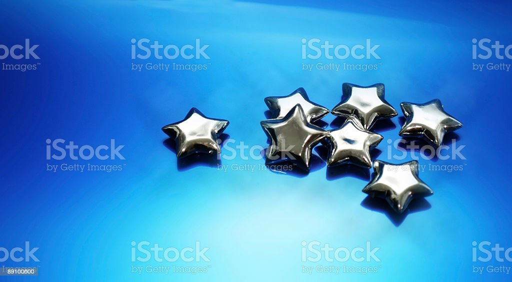 Silver Stars 2 royalty-free stock photo
