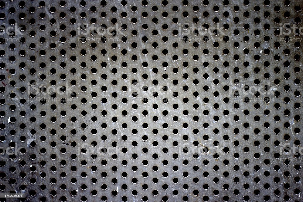 Silver steel hole texture royalty-free stock photo