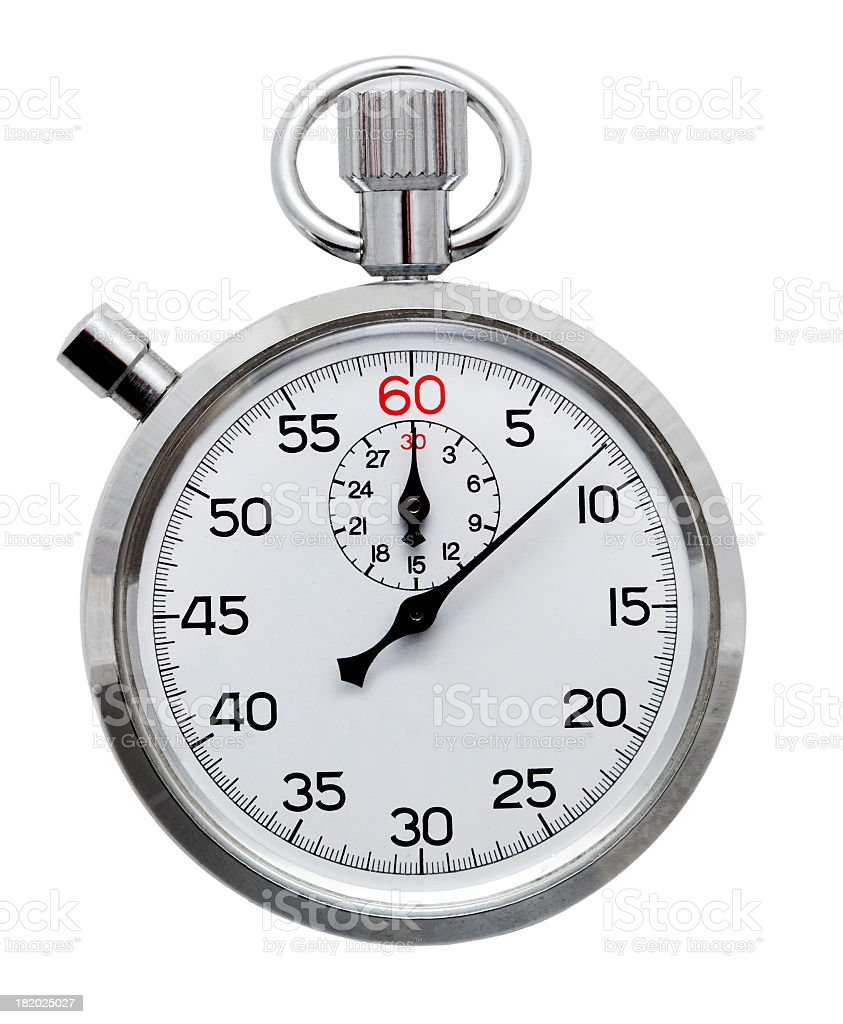Cronómetro isolado a branco - fotografia de stock