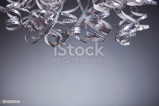 istock Silver Streamers 504005328