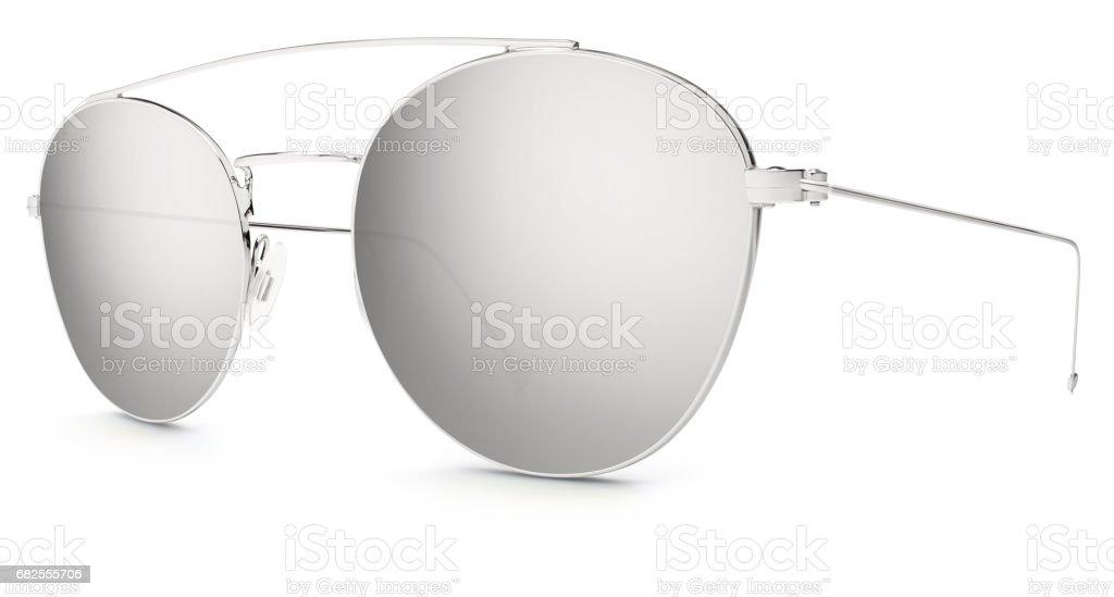 Espejo Blanco Sol Lentes Fondo Aisladas Sobre De Gris Gafas WDEHIY29