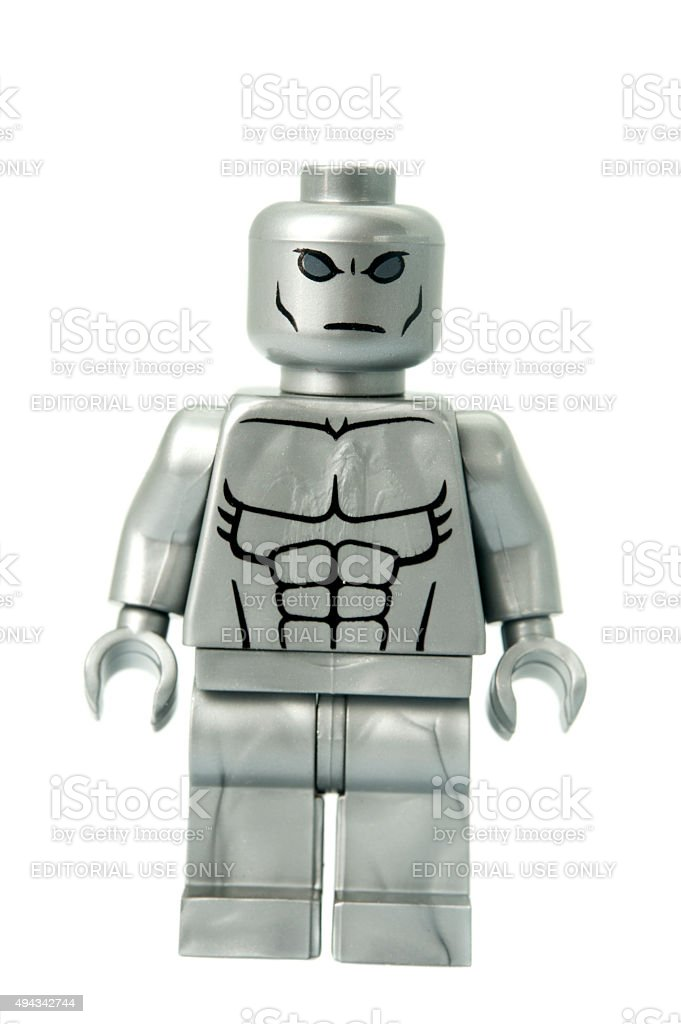 Silver Surfer Custom Lego Minifigure Stock Photo - Download Image Now