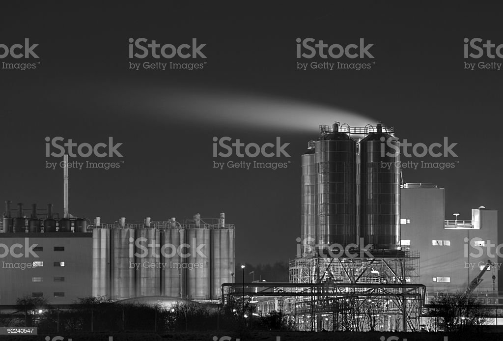 Silver Tanks royalty-free stock photo