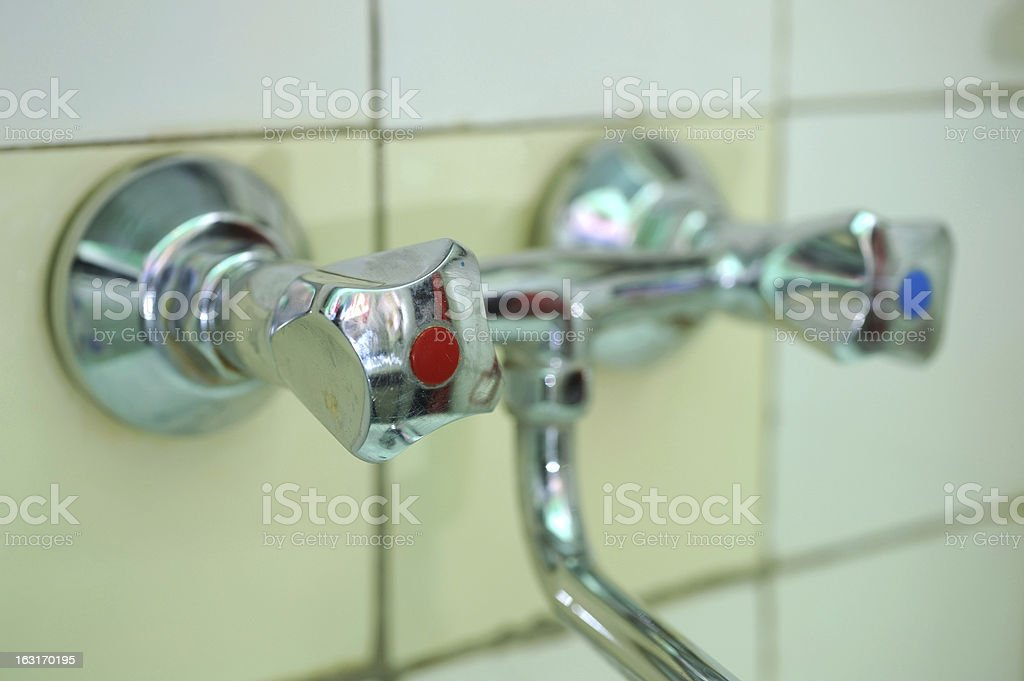 Silver tap royalty-free stock photo