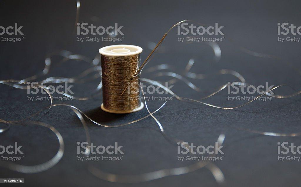 Srebrny nici zbiór zdjęć royalty-free