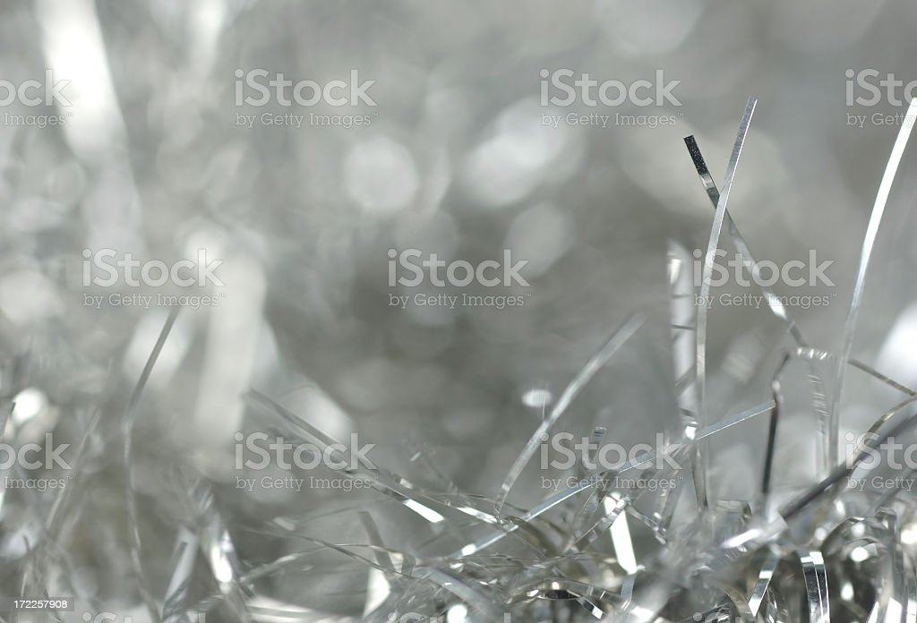 Silver tinsel background royalty-free stock photo