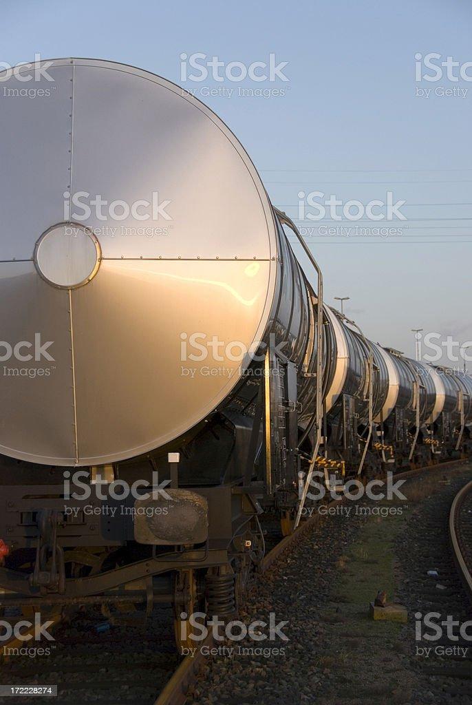 silver train royalty-free stock photo