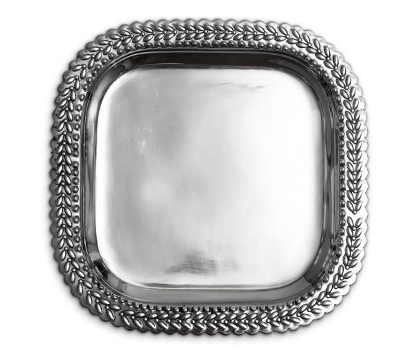 Silver Tray stock photo