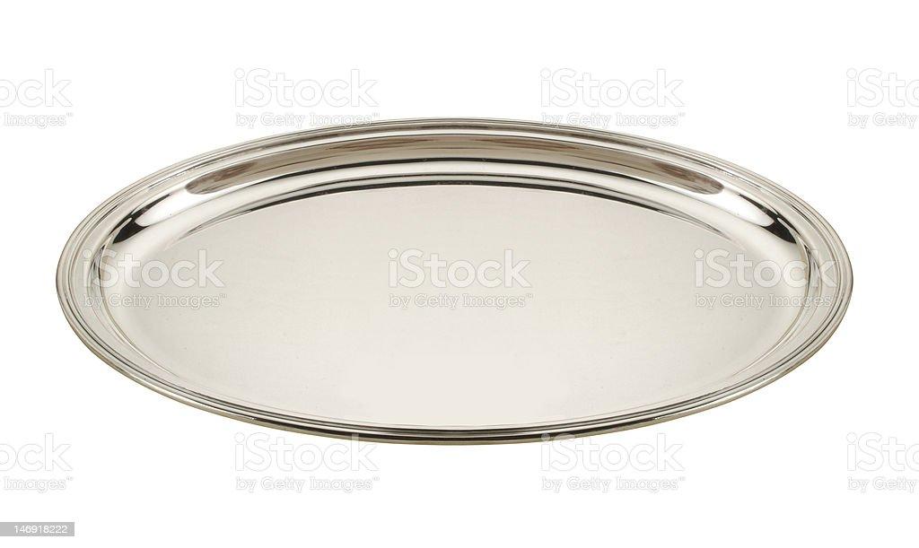 silver tray stock photo