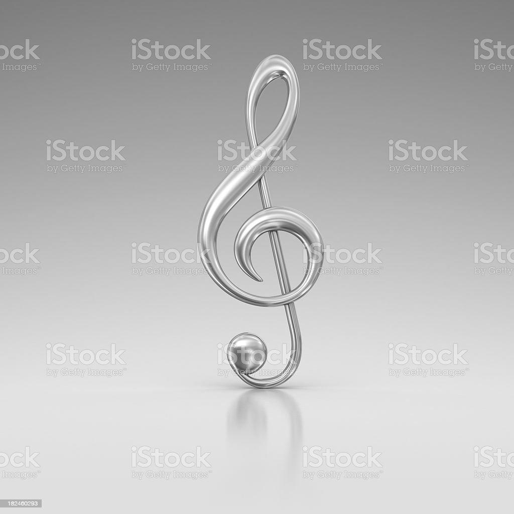 silver treble clef royalty-free stock photo