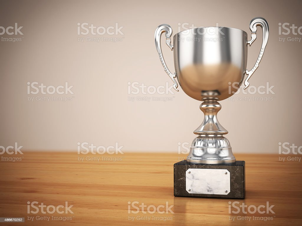 Silver Trophy stock photo