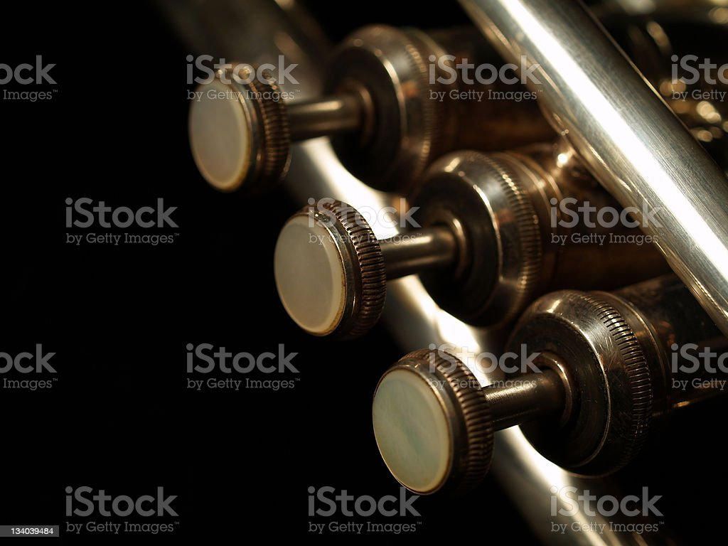 Silver Trumpet royalty-free stock photo