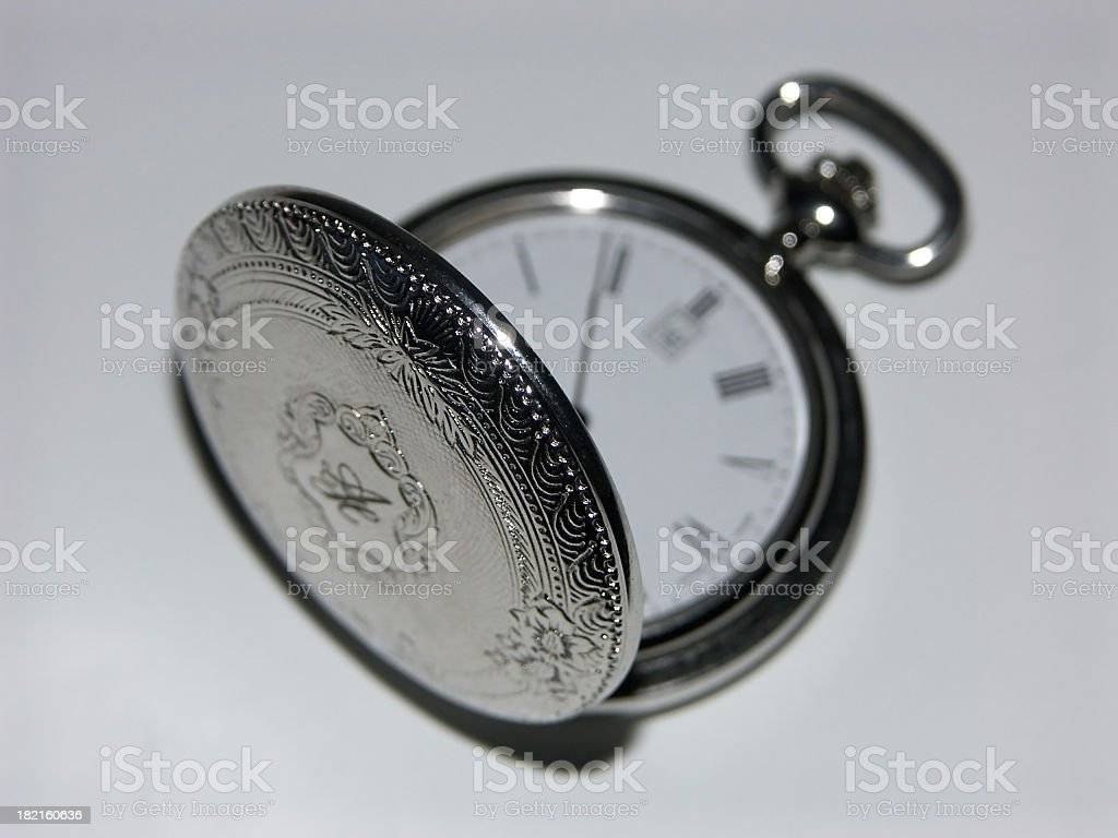 Silver watch 2 stock photo