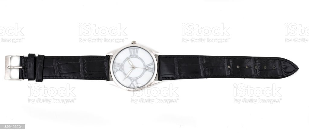 Silver Watch stock photo