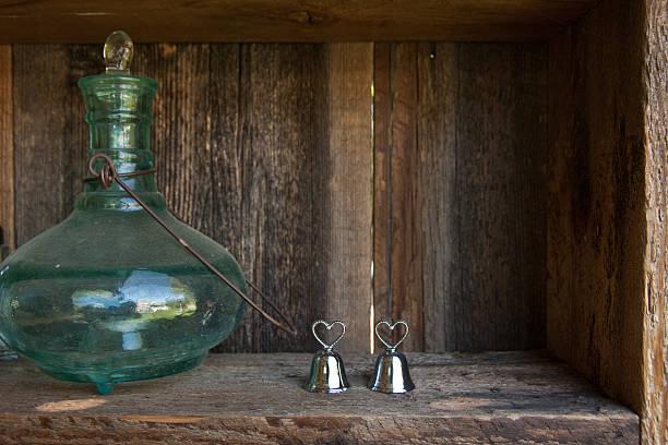 Silver Wedding Bells stock photo