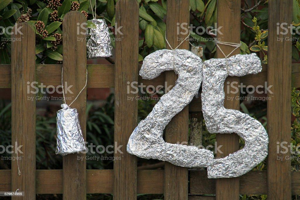 Silver wedding stock photo