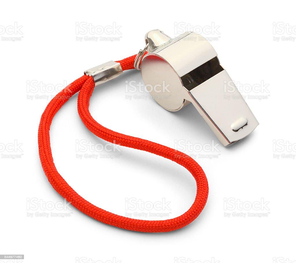 Silver Whistle stock photo
