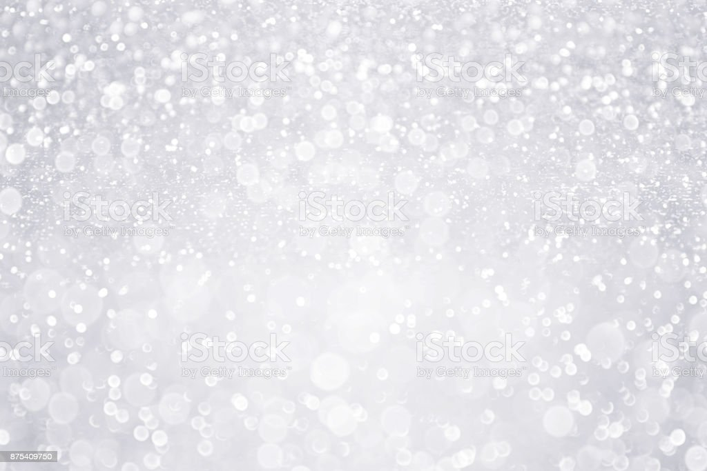 Silver White Glitter Background for Bridal, Winter or Birthday Party Sparkle stock photo