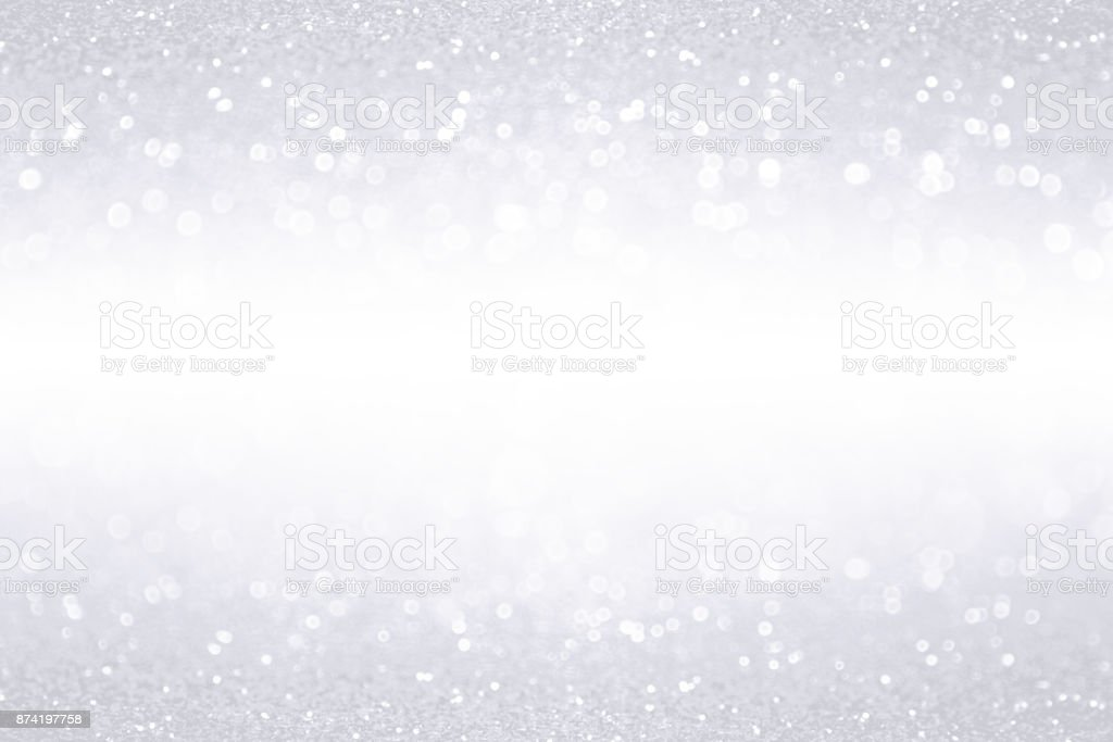 Silver White Glitter Border Banner Background stock photo