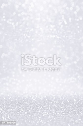 istock Silver White Glitter Snow Background for Winter or Christmas Coupon 877106096