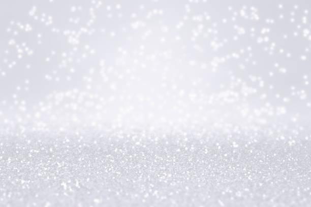 silber weiße glitzer schnee hintergrund für winter oder weihnachten funkeln - verlobungsfeier einladungen stock-fotos und bilder