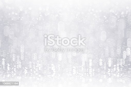 istock Silver White Glitter Snow Frosty Background or Sparkley 25 Anniversary Sparkle 1068621164