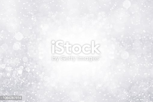 istock Silver White Glitter Sparkle Background Border for Abstract Snow or Anniversary Sparkley Diamonds 1064257514