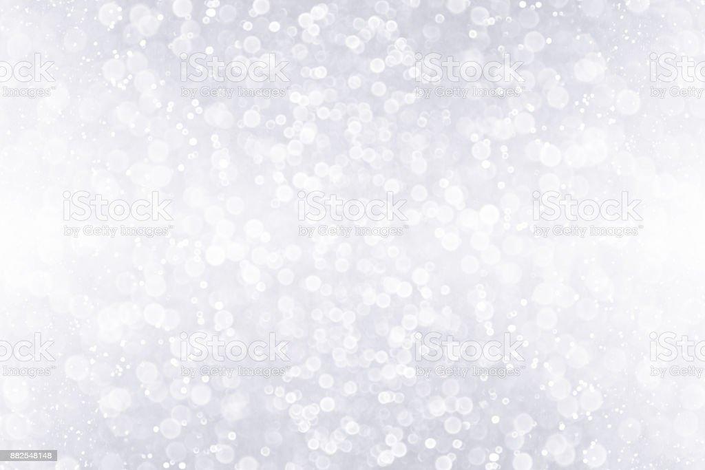 Silver White Glitter Sparkle Background Design stock photo