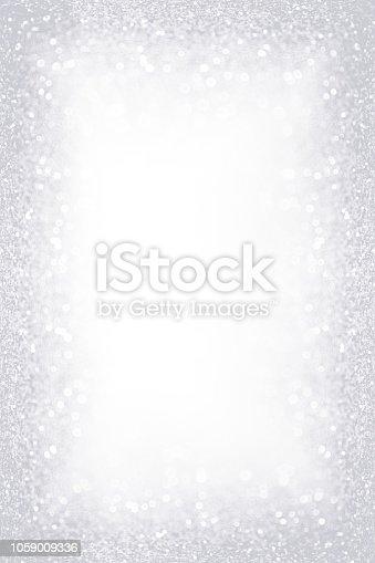 866754590 istock photo Silver White Glitter Sparkle Border Frame 1059009336