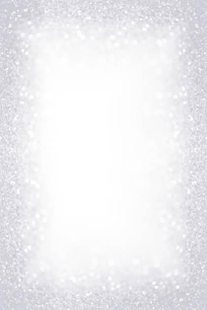 silver white glitter sparkle border frame - приглашение стоковые фото и изображения