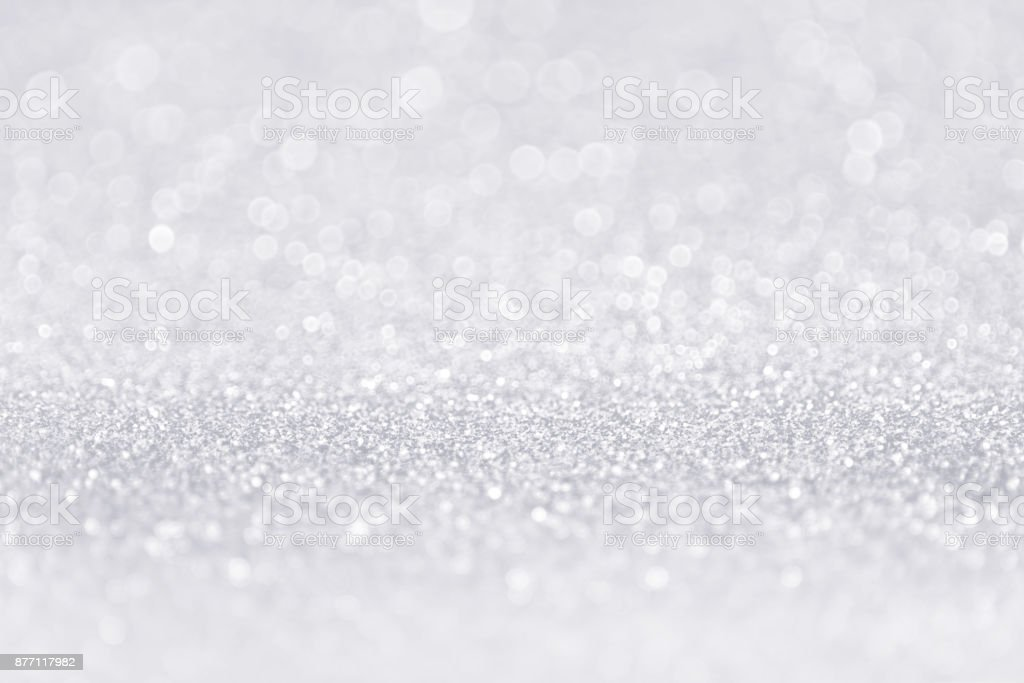 Silver White Glitter Sparkle Sequin Background stock photo