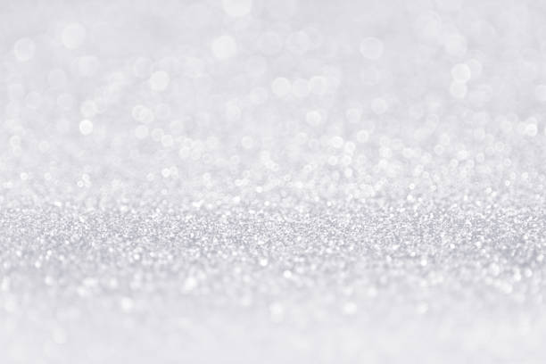 silver white glitter sparkle sequin background - scintillante foto e immagini stock