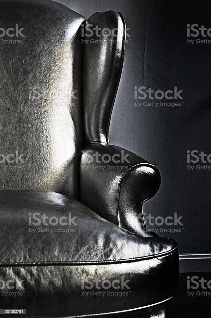 Plata, ala silla foto de stock libre de derechos