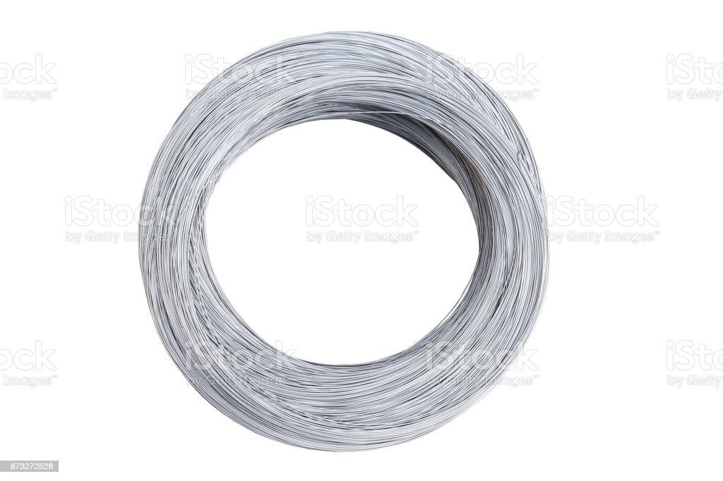 bobina de alambre de plata - foto de stock