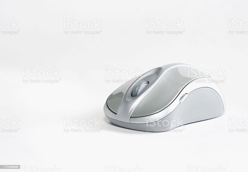 Silver Wireless Mouse 002 royalty-free stock photo