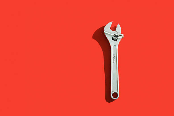 silver wrench - single object stock pictures, royalty-free photos & images