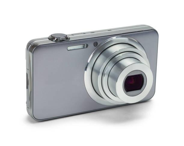 Silver Zoom Camera stock photo