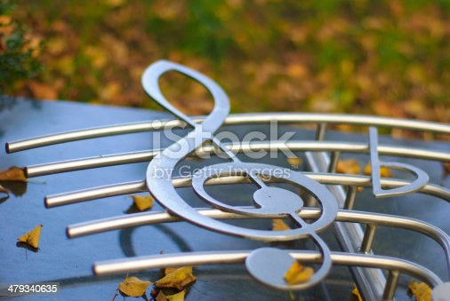 istock silvered clef on a staff 479340635