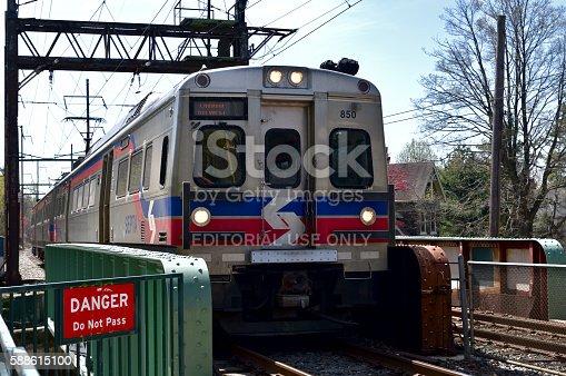 Septa Silverliner V In Philadelphia Pa Stock Photo & More Pictures of Bridge - Built Structure