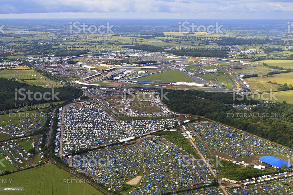 Silverstone Circuit stock photo