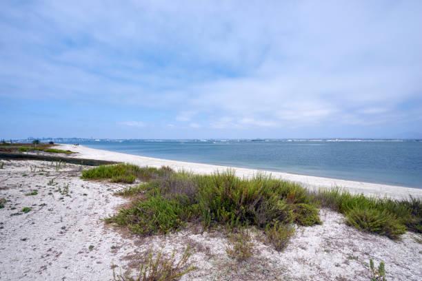 Silverstrand beach on Coronado Island, looking towards San Diego stock photo