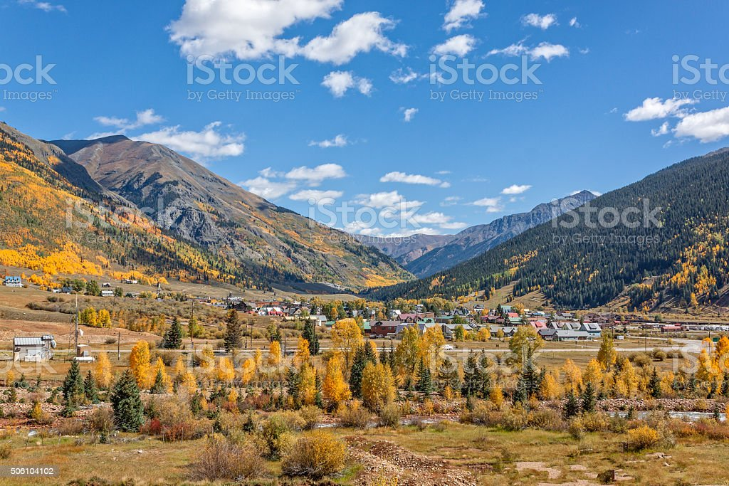 Silverton Colorado in Fall stock photo